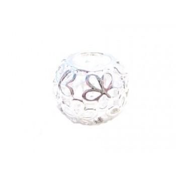 Blonde led med blomster sølv - 11 / 5 mm