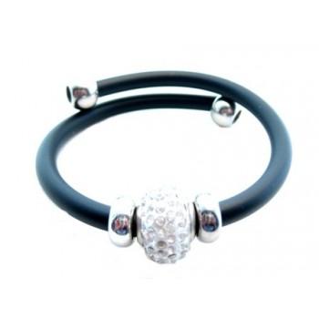 Wire armbånd med gummi og perle