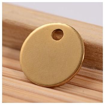 Tag i stål med guld belægning 8 mm - 2STK
