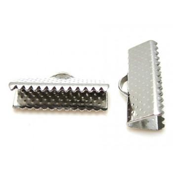 Klemme lukkeled sølv 10 mm - 2 stk