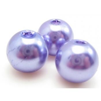 Voks perle 10 mm lilla - 10 stk