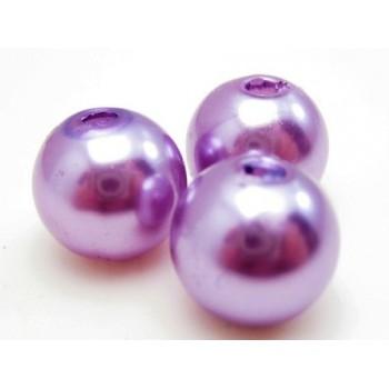 Voks perle 10 mm  lilla - 10stk