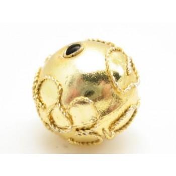 Cloisonne rund 12 mm guld