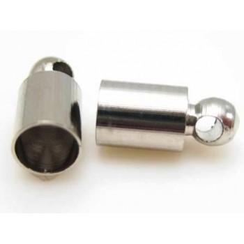 Enderør sølv pl. 4,2 mm indvendig - 2 par