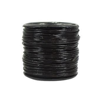 Læder snøre 1mm -  sort - 1 M