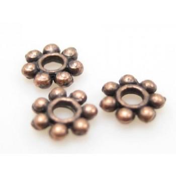 Mellem rondel kobber 4 mm - 10 stk