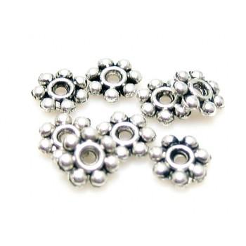 Mellem rondel sølv 4mm - 25 stk