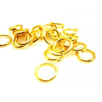 O-ring guld pl. 8 / 6 mm indv mål - 20 stk