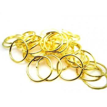 O-ring guld  pl. 7,5 / 6,5  mm indv mål -        20 stk