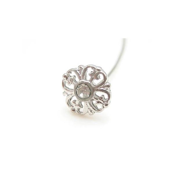 smuk sølv perlestav med sten