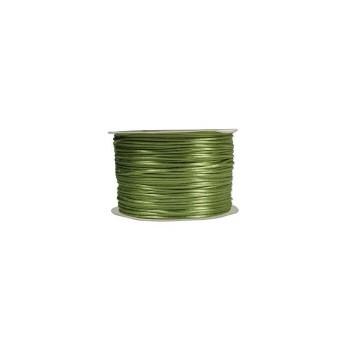 Satin snor 2 mm - Oliven grøn  - 10 m