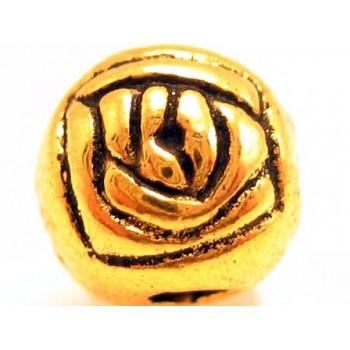 Guld rose 6 mm - 3 stk
