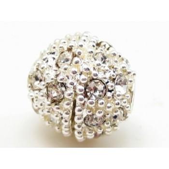 Sølv kugle 12 / 2,5 mm med stene