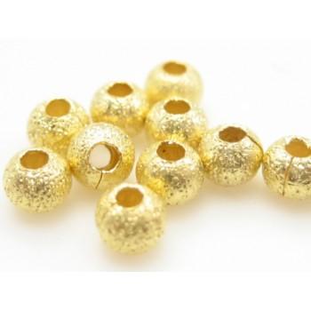 Guld stardust   3 / 0,8 mm - 12 stk