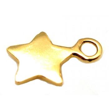 Sterling sølv med guld belægning stjerne 6mm