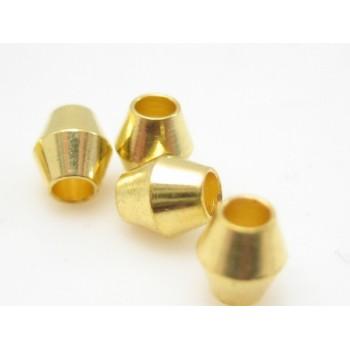 Messing guld på 4 mm / 1,5 mm  - 20 stk