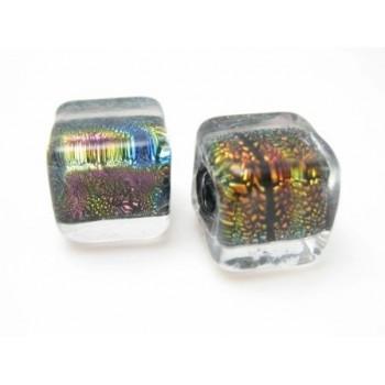 Smuk hånd lavet glas perle 10 / 2 mm