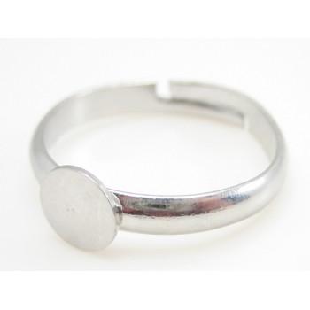 Ring med flad platform sølv 19 mm +