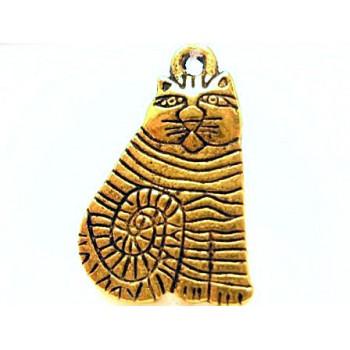 Flot guld kat på 20 mm