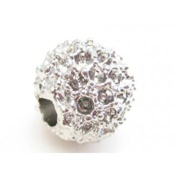 Metal perle med møsnter 10 mm