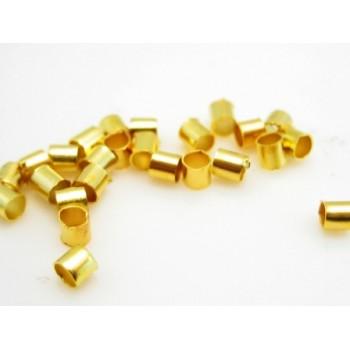 Wire klemme guld plate 1,5 mm - 100 stk