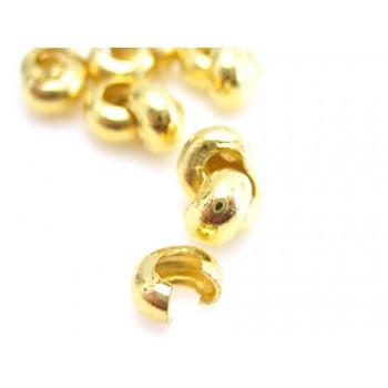 Knude skjuler 3 mm guld  - 20 stk