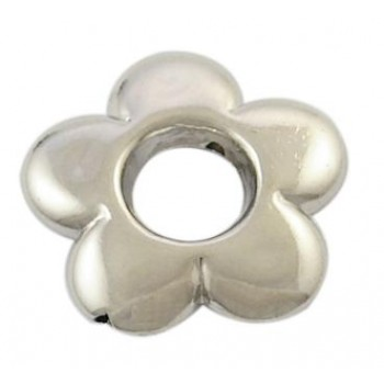 Sølv blomst 20 mm - 2 stk