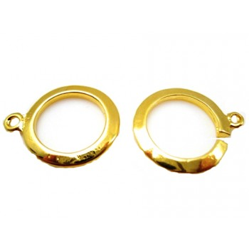 Bidsel guld lås 18 mm