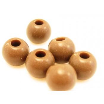 Akryl perle brun 6mm - 30 stk