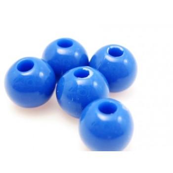 Akryl perle blå 6mm - 30 stk