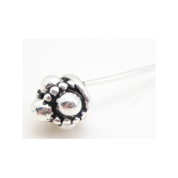 Smuk sølv belagt perlestav 6 cm