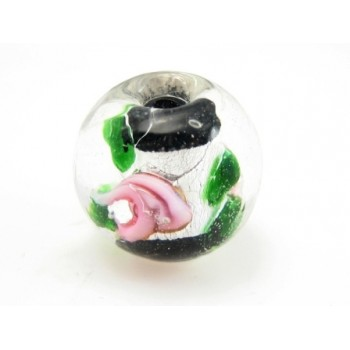 Perle med rose 12 / 1,5  mm - 4 stk