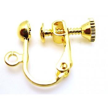 Skrue ørering guld - 1 par