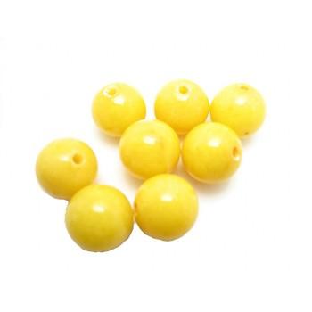 Jade gul 10 mm - 8 stk