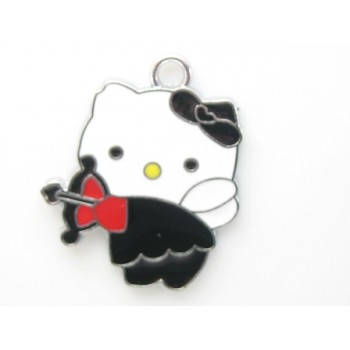 Hello Kitty vedhæng sort  30 mm