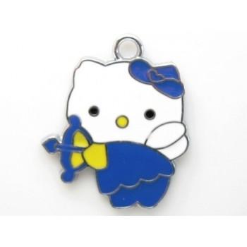 Hello Kitty vedhæng blå -  lilla  30 mm