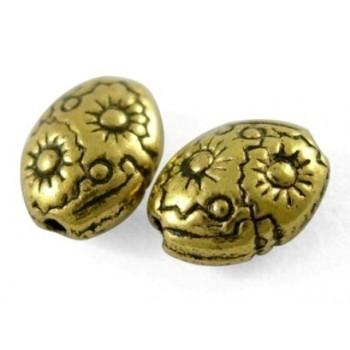 Guld perle 8 mm - 5 stk