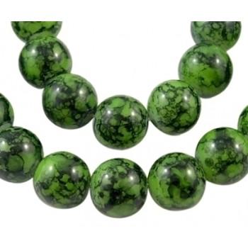 Glas perle grøn 10 / 2mm - 8 stk