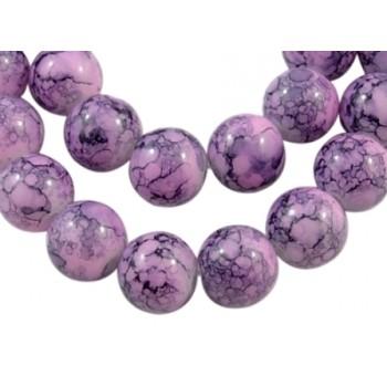 Glas perle rosa / lilla 10 / 2mm - 8 stk