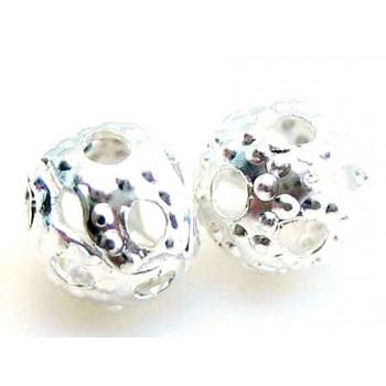 Filigran sølv perle 4mm - 20 stk