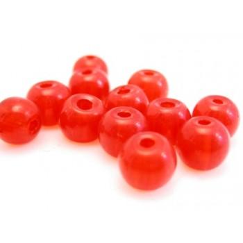 Glas perle 6 mm - rød - 15 stk