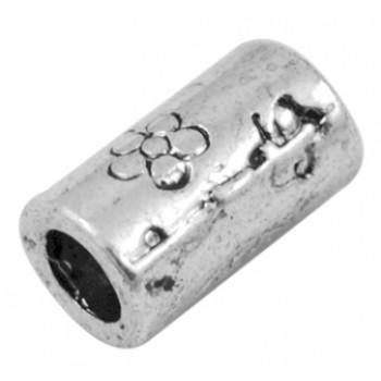 Flot metal perle på 10,5 / 4 mm hul - 3 stk