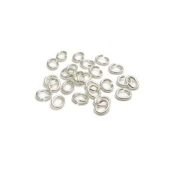 O-ring sølv belagt 5 mm indv mål - 40 stk