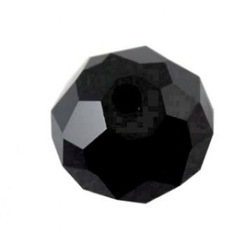 Smuk facceteret sort glas perle 10 mm - 2 STK