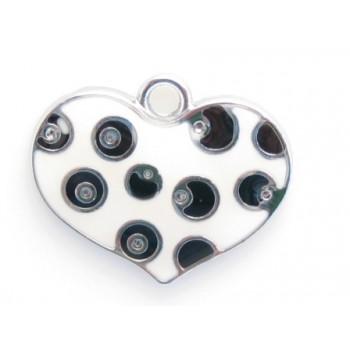 Dalmantiner hjerter 26 mm