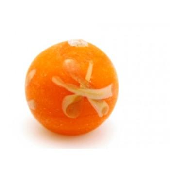 Håndlavet perle med motiv 10 / 2 mm orange - 3 stk
