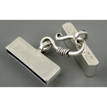Flad lukkeled i tibet sølv