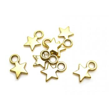 Stjerne i gylden  11 / 4 mm - 8 stk