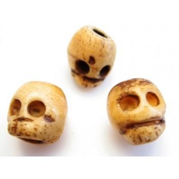 Skelet hoveder i ben 8 / 2,5 mm - 3 stk