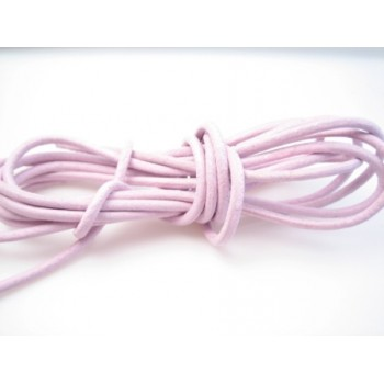 Læder snøre 2 mm - lys rosa - 1 m